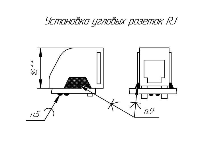 Варианты установки изделий - AutoCAD