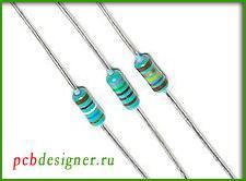 Выводные резисторы с аксиальным расположением выводов
