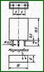 Габаритные размеры фильтра ФП1П-049