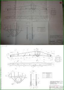 векторизация чертежа формата А1 - хобот плавучего крана