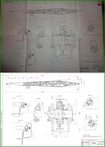 векторизация чертежа формата А1 - Стрела