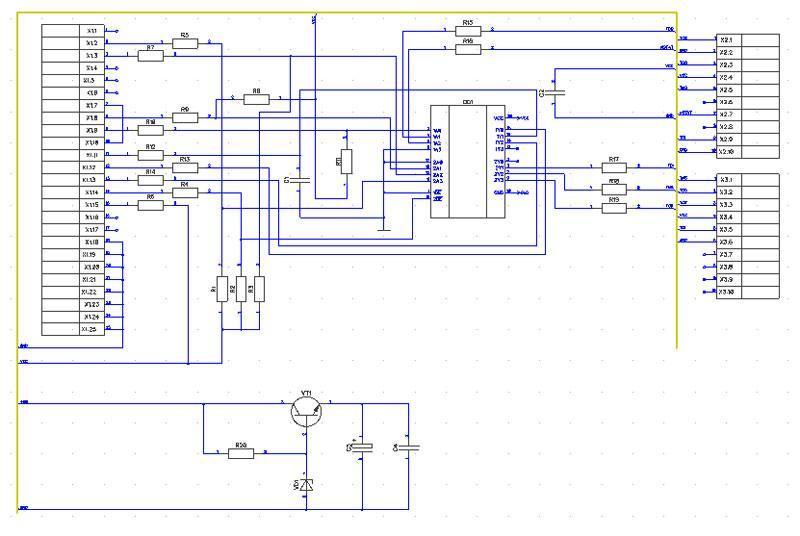 Создание принципиальной электрической схемы в редакторе