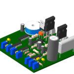 Контроллер БТГ - компоновка элементов на печатной плате