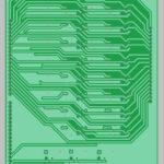 3D вид нижней стороны печатной платы реле