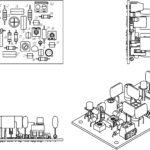 Проекции печатной платы амплитудного модулятора