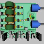 Печатная плата мостового инвертора напряжения