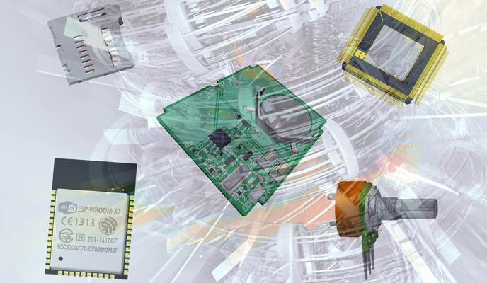 3D архив компонентов печатных плат