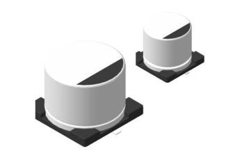 Алюминиевые SMD конденсаторы 3D модели
