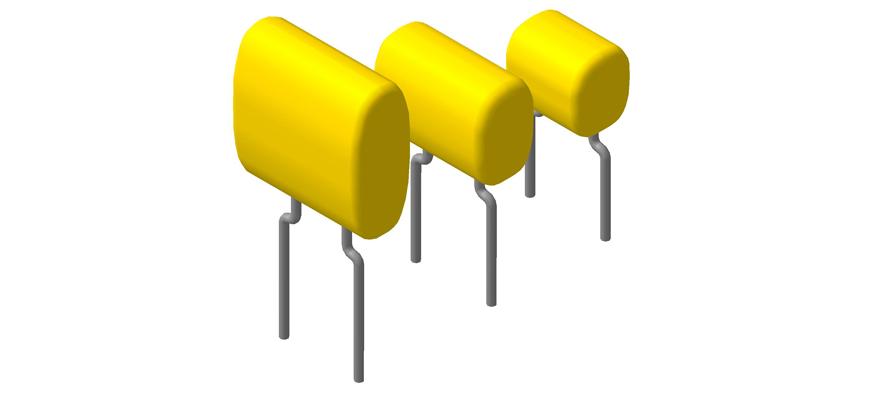 3D модели керамических многослойных конденсаторов К10-17