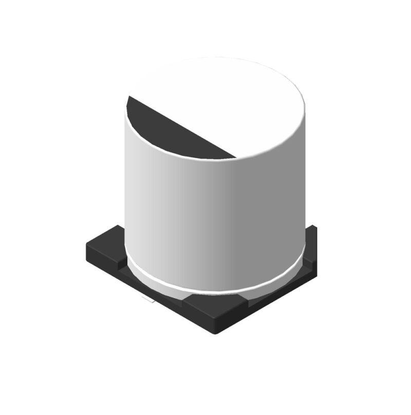 Алюминиевый электролитический SMD конденсатор 3D модель