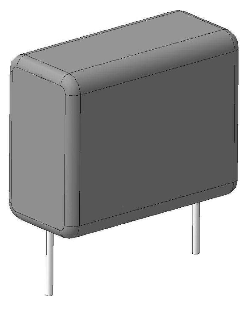 Скачать 3D step модель конденсаторов серии CL21