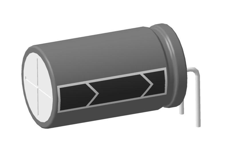 Алюминиевые электролитические конденсаторы горизонтальной установки - скачать 3D модели
