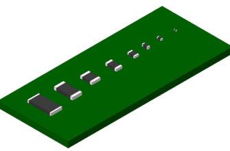 Основные типоразмеры SMD чип-резисторов - скачать 3D модели