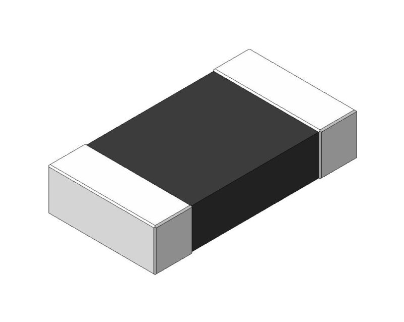 SMD чип-резистор - скачать 3D step модель