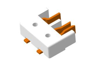 Светодиодные соединители серии 1971567 3D модель