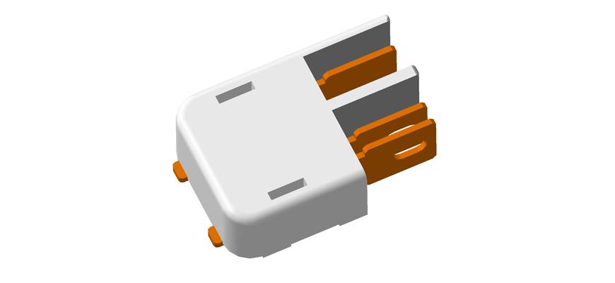 Светодиодный соединитель ledm2 скачать 3D модель в формате step