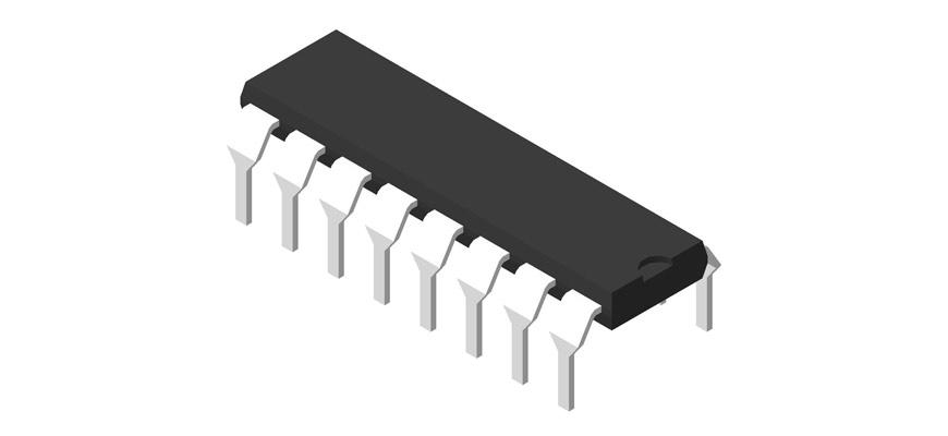 3D модель корпуса DIP-16