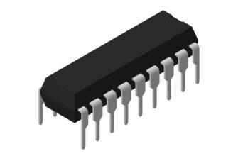 3D модель корпуса DIP-18