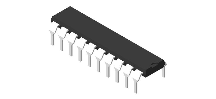 3D модель корпуса DIP-20