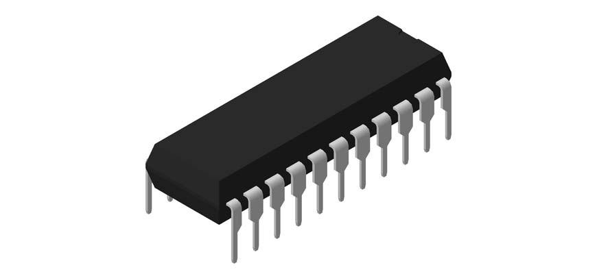 3D модель корпуса DIP-22P-M03