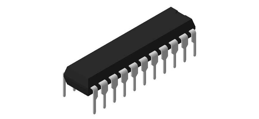 3D модель корпуса DIP-22P-M04