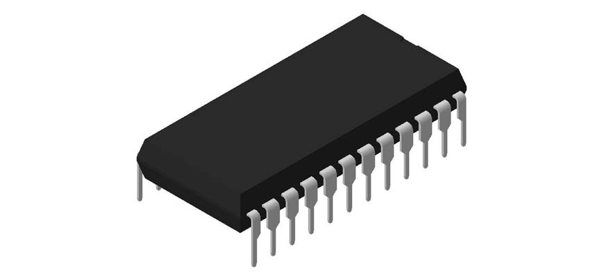 3D модель корпуса DIP-24P-M02