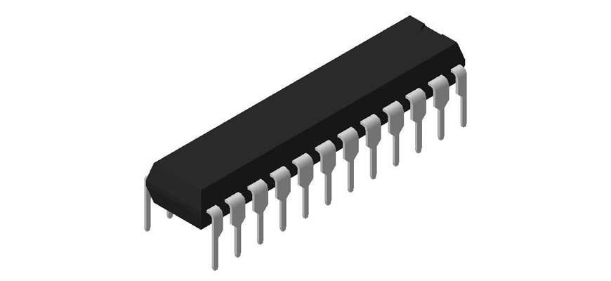 3D модель корпуса DIP-24P-M03