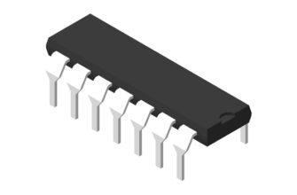 3D модель корпуса DIP-14