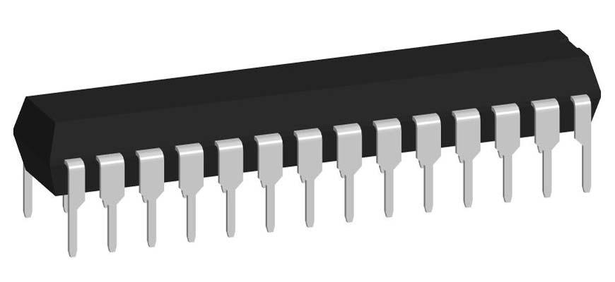 3D модель корпуса DIP-28P-M04