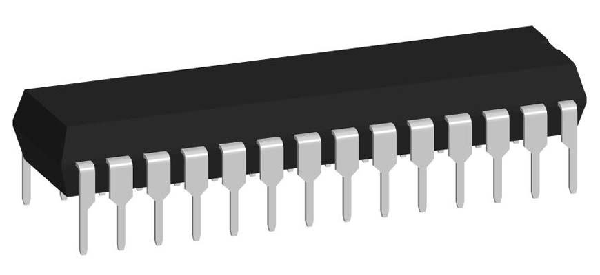 3D модель корпуса DIP-28P-M06