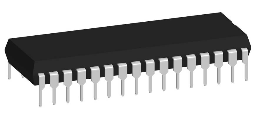 3D модель корпуса DIP-32P-M01