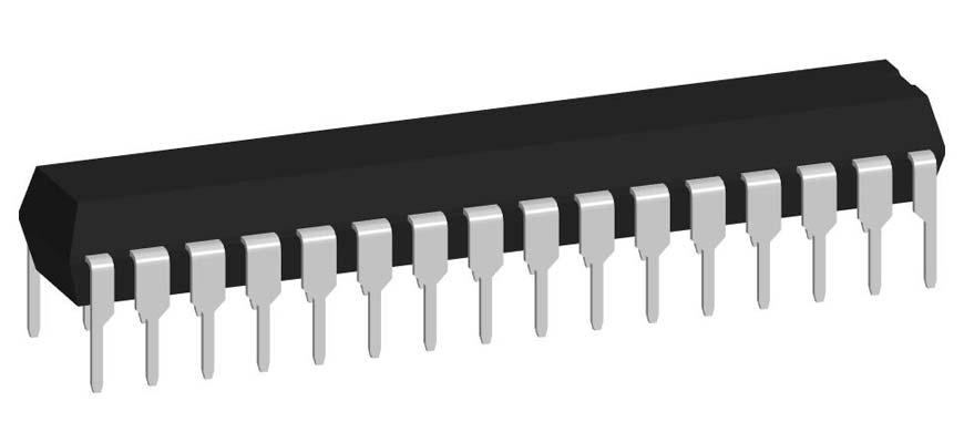 3D модель корпуса DIP-32P-M02