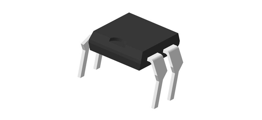 3D модель корпуса DIP-4