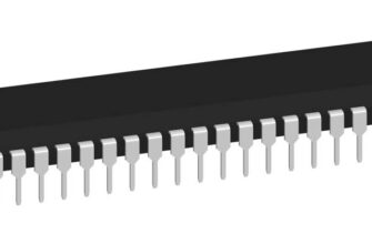 3D модель корпуса DIP-40P-M02