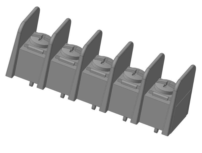 3D модель клеммного соединителя 38720 Molex