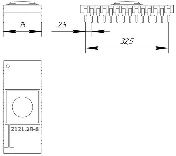 Основные размеры корпуса 2121.28-8