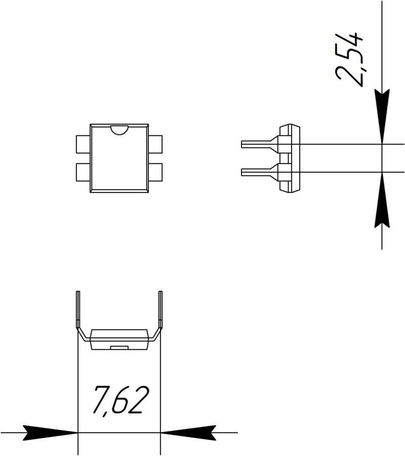 Основные размеры корпуса DIP-4