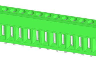 3D модели винтовых клеммников на ток до 25А