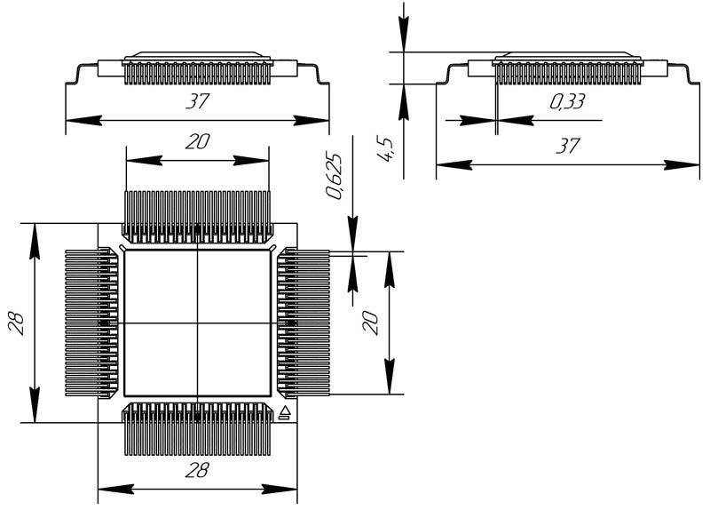 Основные размеры корпуса 4229.132-3