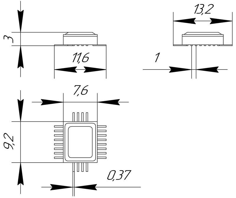 Основные размеры корпуса Н06.24-1В